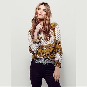 Free People | Changing Times Floral Tunic XS
